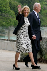 Jill and Joe Biden. Jill is right on trend as the fashion business itself is embracing second use.