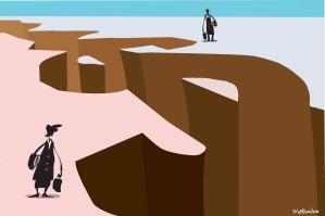 The chasm between women and men persists. Illustration: Matt Davidson