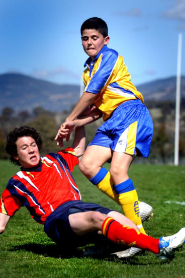 Tom Rogic playing for the ACT at the under-13 nationals in 2005.