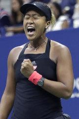 New champion: Naomi Osaka idolised Serena Williams.