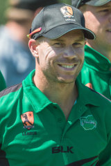David Warner enjoys being back on a home pitch.