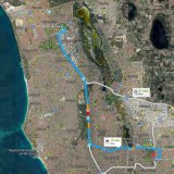 The distance between Marangaroo and HBF Arena.