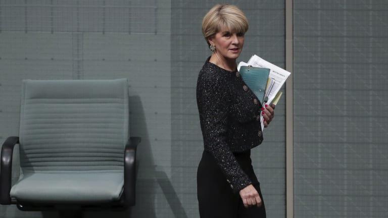 Liberal MP Julie Bishop on Thursday.