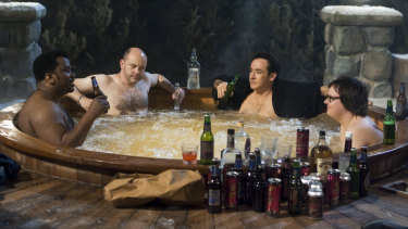 A scene from Hot Tub Time Machine. Is there one of these in Josh Frydenberg's office?