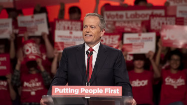 Bill Shorten at the NSW Labor election launch at Revesby Workers Club.