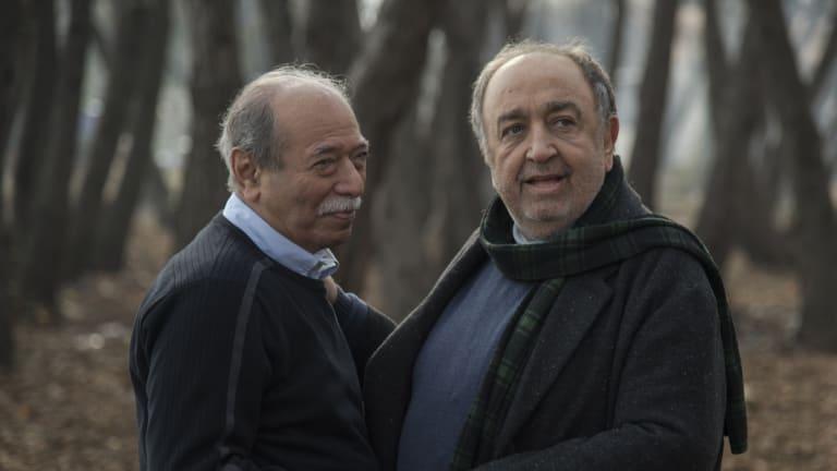 Ali Nassirian (left), and Bahman Farmanara, who plays Taher Mohebi in Tale of the Sea, a film Farmanara also diretced.