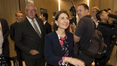 NSW Premier Gladys Berejiklian at the hospital opening on Monday.