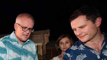 Prime Minister Scott Morrison and Minister for International Development and the Pacific, Alex Hawke hosted a barbecue in Honiara in June.