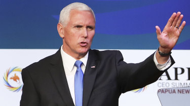 US Vice-President Mike Pence has announced a joint initiative with Australia and PNG to expand a naval base at Manus Island.
