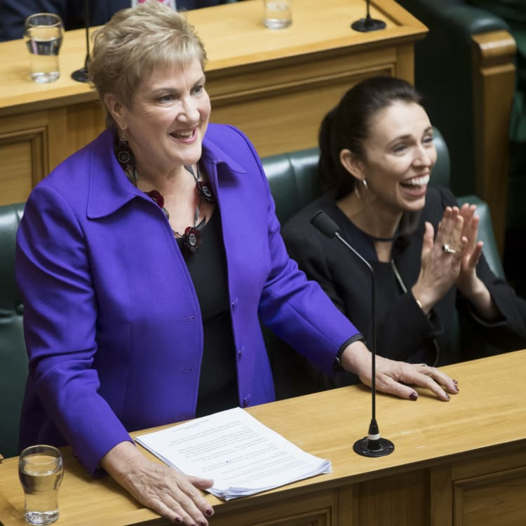 Ardern with former New Zealand Labour deputy leader, Annette King.