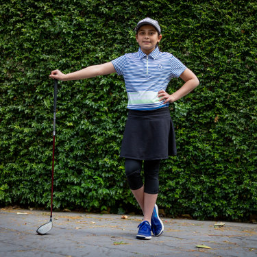 Sahara Hillman-Varma, 12, is adjusting to the demands of Year 7, while trying to pursue her dreams as an elite golfer.