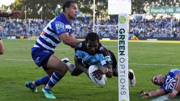 Cronulla hold out determined Bulldogs for fifth win in a row