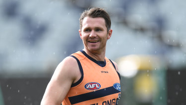 Patrick Dangerfield at Cats training on Wednesday.