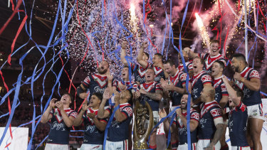The Sydney Roosters after the 2018 NRL grand final.