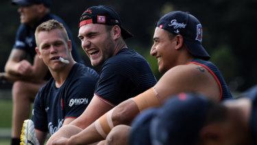 """He's a beast': Angus Crichton has impressed his new teammates, despite off-season shoulder surgery."