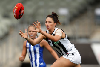 Sharni Layton is one of five Magpies in the AFLW All-Australian squad.