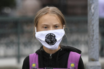 Greta Thunberg, pictured late last year, says vaccine nationalism is affecting distribution.