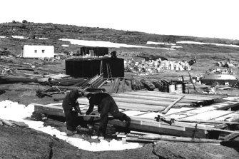 Mawson research station on the Antarctic mainland in 1954.