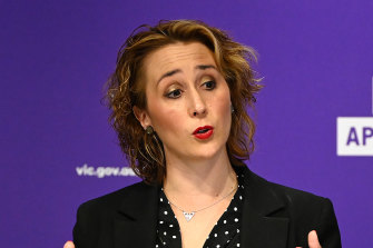 Gabrielle Williams, Minister for the Prevention of Family Violence, says tensions between agencies had an impact on the Orange Door safety hubs.