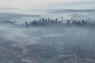 Smoke blankets Sydney on November 19.