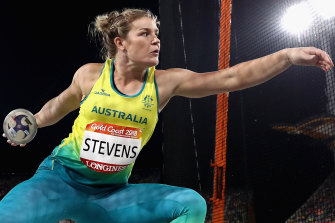 Dani Stevens has already booked her place on the Australian Olympic team in the discus.