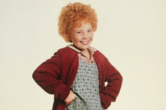 Aileen Quinn in the film adaptation of Annie.