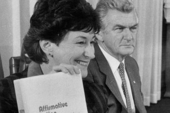 Susan Ryan and Bob Hawke in 1984.