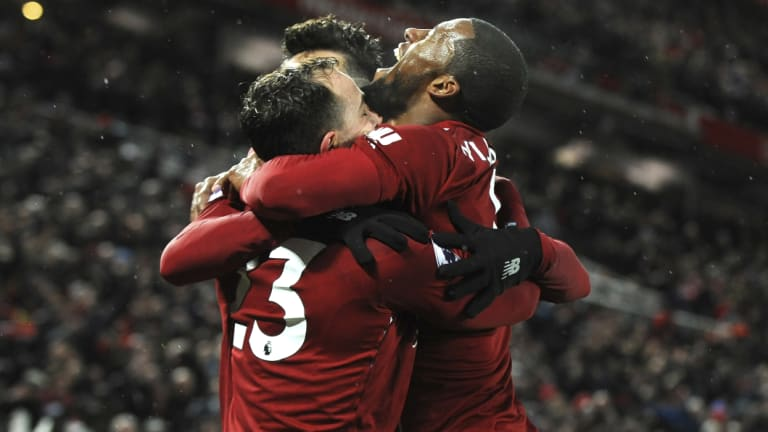 Red alert: Premier League leaders Liverpool will look to take their domestic form into the clash with Bayern Munich.