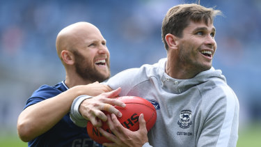 Cats coach Chris Scott expects Gary Ablett (left) to play against the Roos.