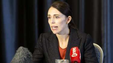 Jacinda Ardern speaks to press about the shooting at a Christchurch mosque.