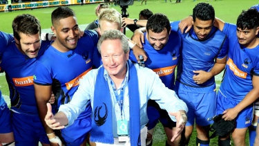 Footy head: Andrew Forrest has plowed more than $50 million into the Rapid Rugby competition.