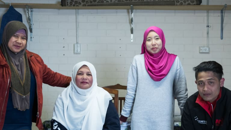 Migrant farm workers Jeliah Jamuan, Mahani Mohd Tif, Putri Nazeri, Danial Jalil