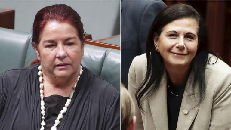 Environment Minister Melissa Price and Concetta Fierravanti-Wells.