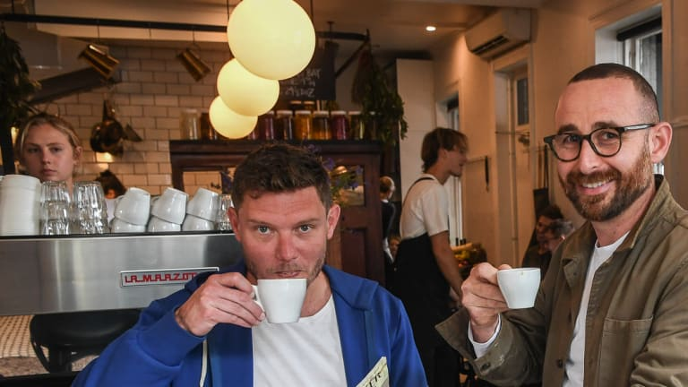 Simon Benjamin and Daniel Lewis, owners of the Napier Quarter, are sick of crowds of people queuing for takeaway coffee.