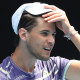 Dominic Thiem is one of many of the men to have been fined at the Australian Open.