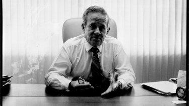 Sir Leo Hielscher in March 1987.