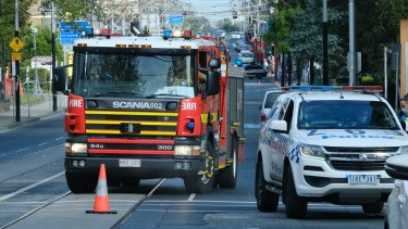 The scene of the stabbing in South Yarra.
