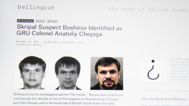 An investigative group in Britain named Bellingcat said one of the two suspects in the March poisoning of Sergei Skripal and his daughter in the U.K. is in fact Col. Anatoliy Chepiga with the Russian military intelligence agency GRU