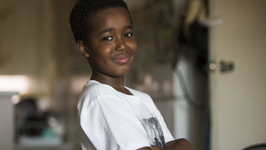Hussein Ahmed, 12, had a kidney transplant after years on dialysis.