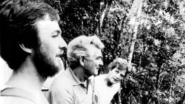 Bob and Hazel Hawke with biologist Peter Bradley in the Daintree rainforest in 1987.