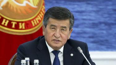 Kyrgyzstan's President Sooronbai Jeenbekov.
