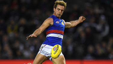 Mitch Wallis played the last 10 games of the season and was important in the Bulldogs' upturn in form.