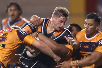On-loan hooker Harry Grant has been a revelation for the Wests Tigers.