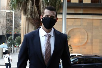 Ben Roberts-Smith arrives at the Federal Court in Sydney on Friday.