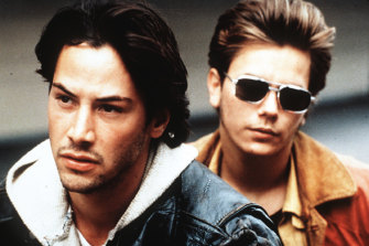 """Keanu Reeves and River Phoenix in """"My Own Private Idaho""""."""