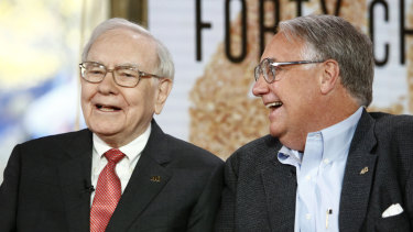 Warren Buffett, left, has named Howard, right, as his successor to take over the non-executive directorship of his investment company when he dies.