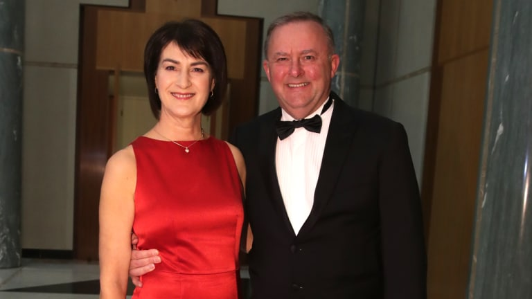 Anthony Albanese and Carmel Tebbutt, pictured at the Midwinter Ball in September, have separated after 30 years.