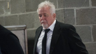 Developer John Woodman leaving an IBAC hearing in November.