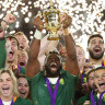 A Rainbow Nation turns golden as Siya Kolisi lifts the World Cup