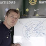 Matildas coach Tony Gustavsson needed a whiteboard to help him answer one question from the press.